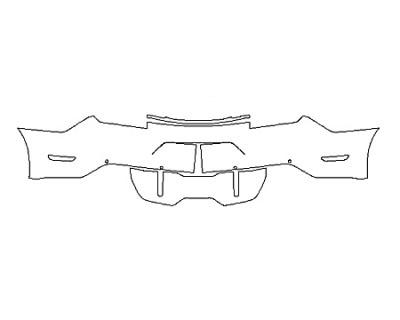 2020 FORD MUSTANG GT PREMIUM FullRear Bumper With Sensors