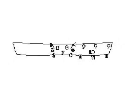 2018 GMC TERRAIN DENALI Rear Bumper Deck