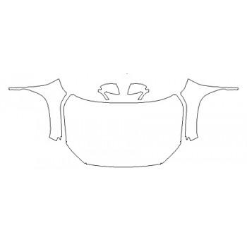 2020 HYUNDAI KONA LIMITED Full Hood(Wrapped Edges) Fenders Mirrors