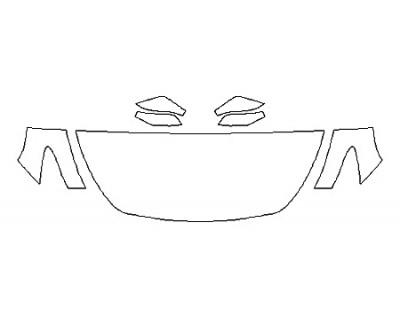 2018 INFINITI Q60 2.0T PURE Hood(24 Inch) Fenders Mirrors