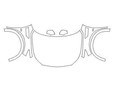 2020 INFINITI QX80 4WD Full Hood Fenders Mirrors