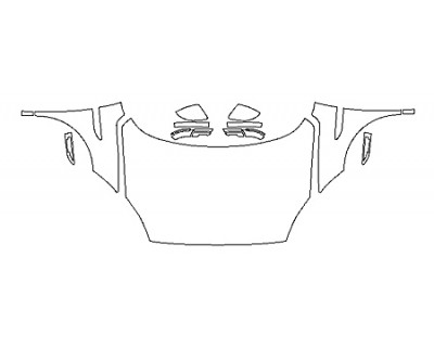 2018 JAGUAR E-PACE BASE Full Hood Fenders Mirrors
