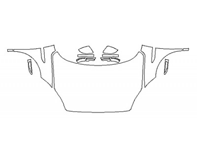 2018 JAGUAR E-PACE BASE Full Hood(Wrapped Edges) Fenders Mirrors