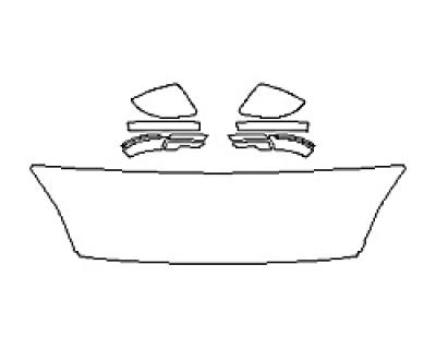 2020 JAGUAR E-PACE BASE Hood(18 Inch Wrapped Edges) Mirrors
