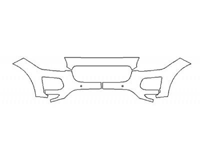 2018 JAGUAR E-PACE BASE Bumper With Sensors (3 Piece)