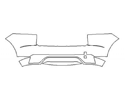 2020 JAGUAR E-PACE BASE FullRear Bumper With Sensors