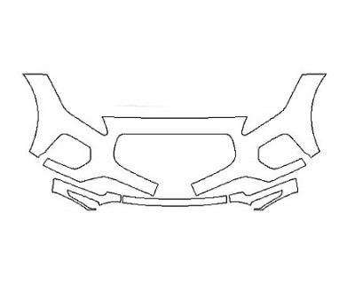 2020 JAGUAR E-PACE R-DYNAMIC HSE Bumper(4 Piece)