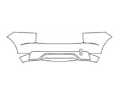 2018 JAGUAR E-PACE R-DYNAMIC HSE FullRear Bumper With Sensors