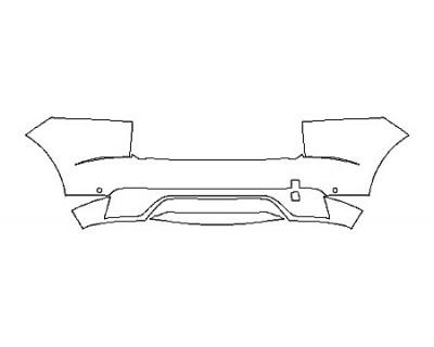 2020 JAGUAR E-PACE R-DYNAMIC HSE FullRear Bumper With Sensors