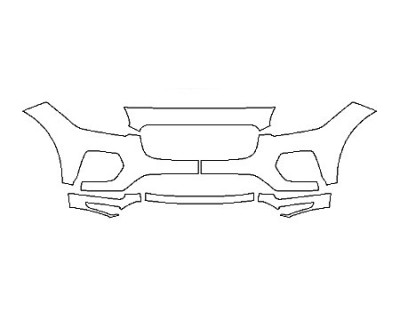 2018 JAGUAR E-PACE R-DYNAMIC S Bumper(6 Piece)