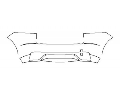 2018 JAGUAR E-PACE R-DYNAMIC SE FullRear Bumper With Sensors