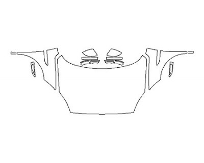 2018 JAGUAR E-PACE SE Full Hood Fenders Mirrors