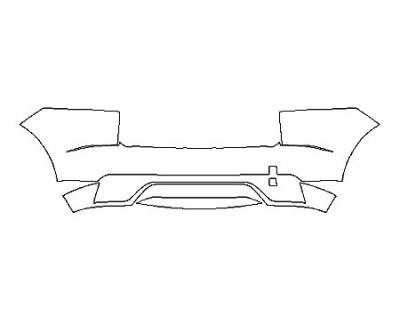 2020 JAGUAR E-PACE SE FullRear Bumper With Sensors
