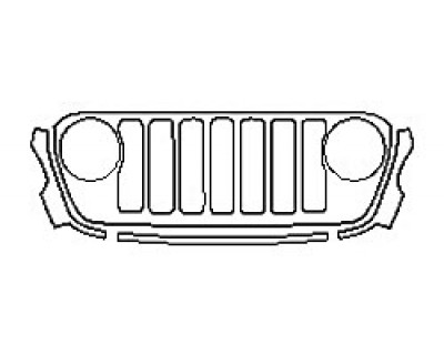 2019 JEEP WRANGLER JL RUBICON Grille