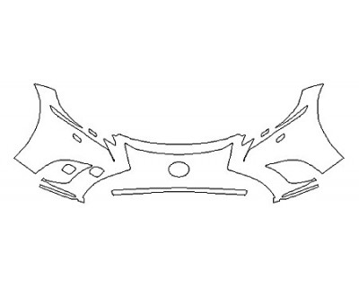 2018 LEXUS LS 500 BASE Bumper With Washers (2 Piece)