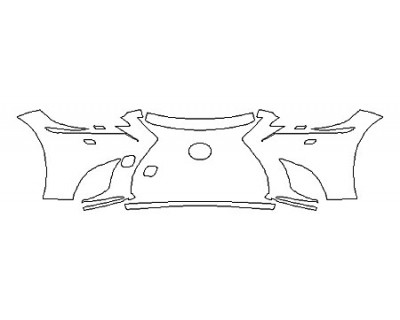 2018 LEXUS LS 500 BASE Bumper With Washers (4 Piece)