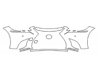 2018 LEXUS LS 500 BASE Bumper With Sensors (4 Piece)