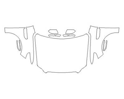2020 LINCOLN NAVIGATOR BLACK LABEL Full Hood (Wrapped Edges) Fenders Mirrors
