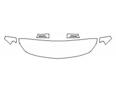 2018 MERCEDES GLA-CLASS SUV GLA250 4MATIC SPORT Hood (18 Inch Wrapped Edges) Fenders Mirrors