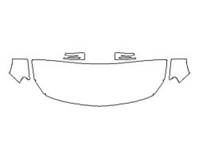 2018 MERCEDES GLA-CLASS SUV GLA250 SPORT Hood (24 Inch Wrapped Edges) Fenders Mirrors