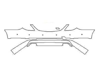2018 MERCEDES S-CLASS SEDAN S450 4MATIC BASE Rear Bumper With Sensors