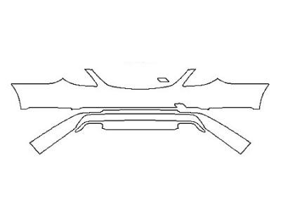 2018 MERCEDES S-CLASS SEDAN S450 BASE Rear Bumper