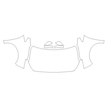 2020 NISSAN LEAF SV Full Hood(Wrapped Edges) Fenders Mirrors