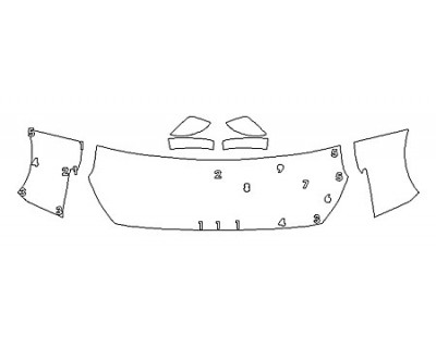 2020 NISSAN LEAF SV Hood(24 Inch) Fenders Mirrors