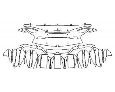 2018 MCLAREN 570GT Full Rear Bumper With Sensors