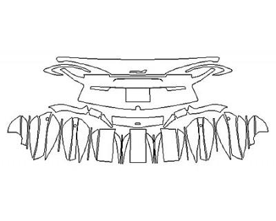 2018 MCLAREN 570GT Full Rear Bumper (Plate Cutout)
