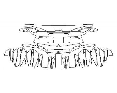 2018 MCLAREN 570GT Full Rear Bumper With Sensors (Plate Cutout)