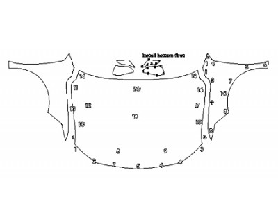 2020 TOYOTA AVALON HYBRID XLE Full Hood Fenders Mirrors