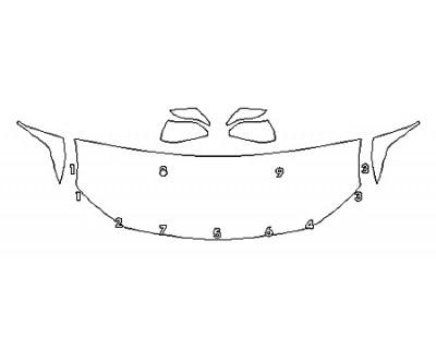 2020 TOYOTA AVALON HYBRID XLE Hood(24 Inch) Fenders Mirrors