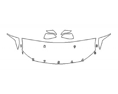 2020 TOYOTA AVALON HYBRID XSE Hood(24 Inch) Fenders Mirrors