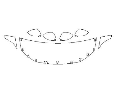 2019 VOLKSWAGEN JETTA R-LINE Hood(24 Inch) Fenders Mirrors