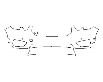 2020 VOLVO XC40 R-DESIGN Bumper With Sensors