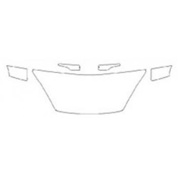 2020 FORD FIESTA SEDAN SE Hood (24 Inch Wrapped Edges) Fenders Mirrors