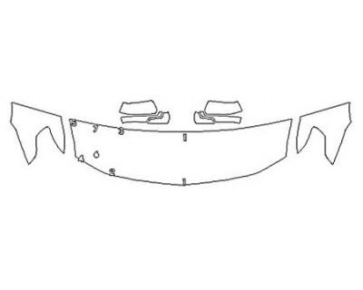 2018 CHEVROLET SUBURBAN LT Z71 Hood (24 Inch) Fenders Mirrors