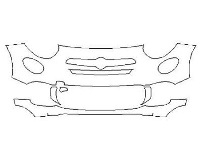 2018 FIAT 500X LOUNGE Bumper (4 Piece)