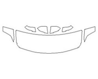 2018 BMW X2 SDRIVE28I BASE Hood (24 Inch Wrapped Edges) Fenders Mirrors