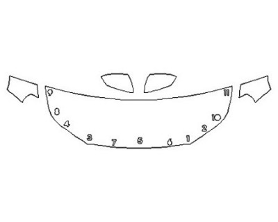 2019 GMC TERRAIN SLE Hood (24 Inch) Fenders Mirrors