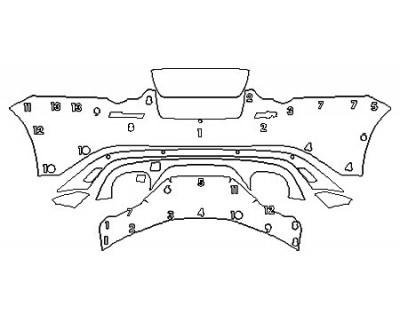 2018 JAGUAR F-TYPE R Full Rear Bumper With Sensors And camera