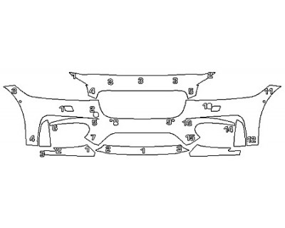 2018 JAGUAR XF SPORTWAGON Bumper (7 Piece)