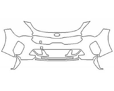 2020 KIA STINGER GT Bumper