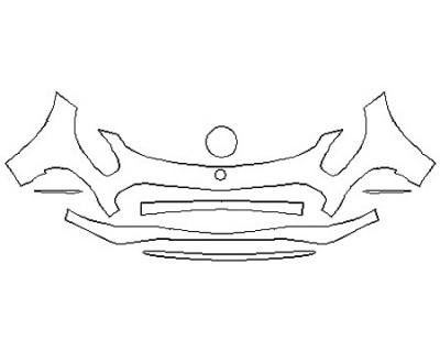 2018 MERCEDES AMG GT C COUPE Bumper