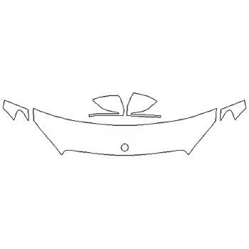 2018 MERCEDES C-CLASS C300 WAGON Hood (18 Inch) Fenders Mirrors