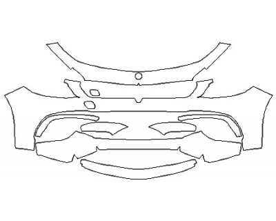 2018 MERCEDES E-CLASS WAGON E63 AMG S Bumper (Option 2)