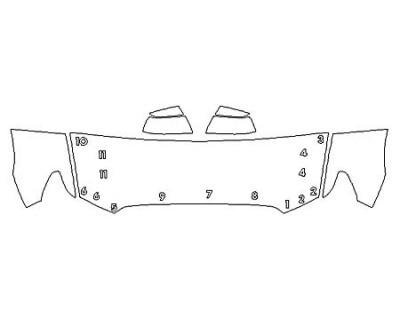 2020 TOYOTA SEQUOIA PLATINUM Hood (24 Inch) Fenders Mirrors