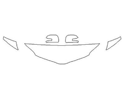 2020 TOYOTA SIENNA XLE Hood (18 Inch) Fenders Mirrors