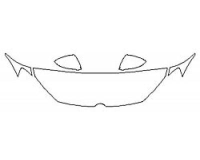 2020 VOLKSWAGEN GOLF 4DR R Hood (18 Inch) Fenders Mirrors